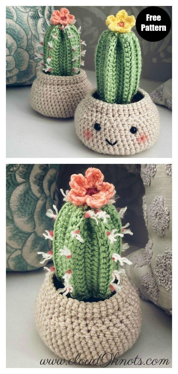 10+ Desert Cactus Amigurumi Crochet Patterns - Look Surprisingly Real