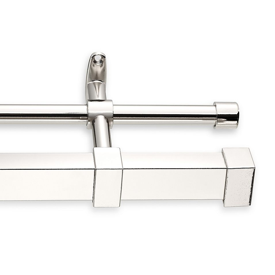 Cambria Metro 180 Double Curtain Rod In Polished Nickel Double