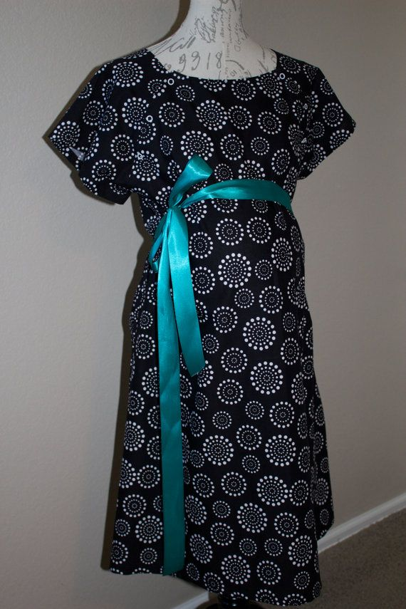 Maternity Hospital Gown Delivery Gown by MudpiesandMonkeys on Etsy ...