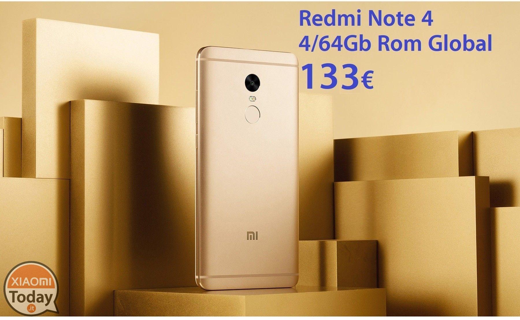 [Codice Sconto] Redmi Note 4x 3/32Gb Black con Rom Global a 125€ e 4/64Gb a SOLI 133€ Spedizione e Dogana inclusi #Xiaomi #4XAndroid6 #MIUI #Offerta #Redmi #RedMiNote #RedmiNote4 #RedmiNote4X #Xiaomi https://www.xiaomitoday.it/?p=19528
