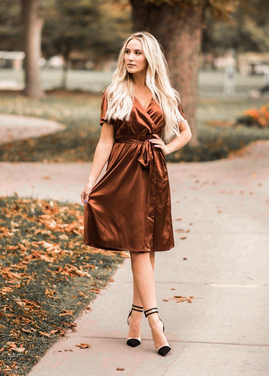 a918a737c1004a Annie Midi Dress in Copper in 2019