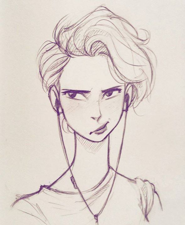 Drawings Of Girls With Short Hair : drawings, girls, short, Short, Drawing,, #drawing, #Girl, #hair, #Short, Pencil, Portrait,, Drawing, People,, Portrait