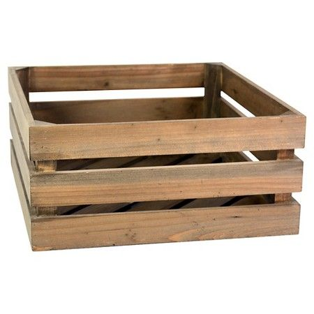 Wood Half Milk Crate Threshold Decor And More Milk Crates