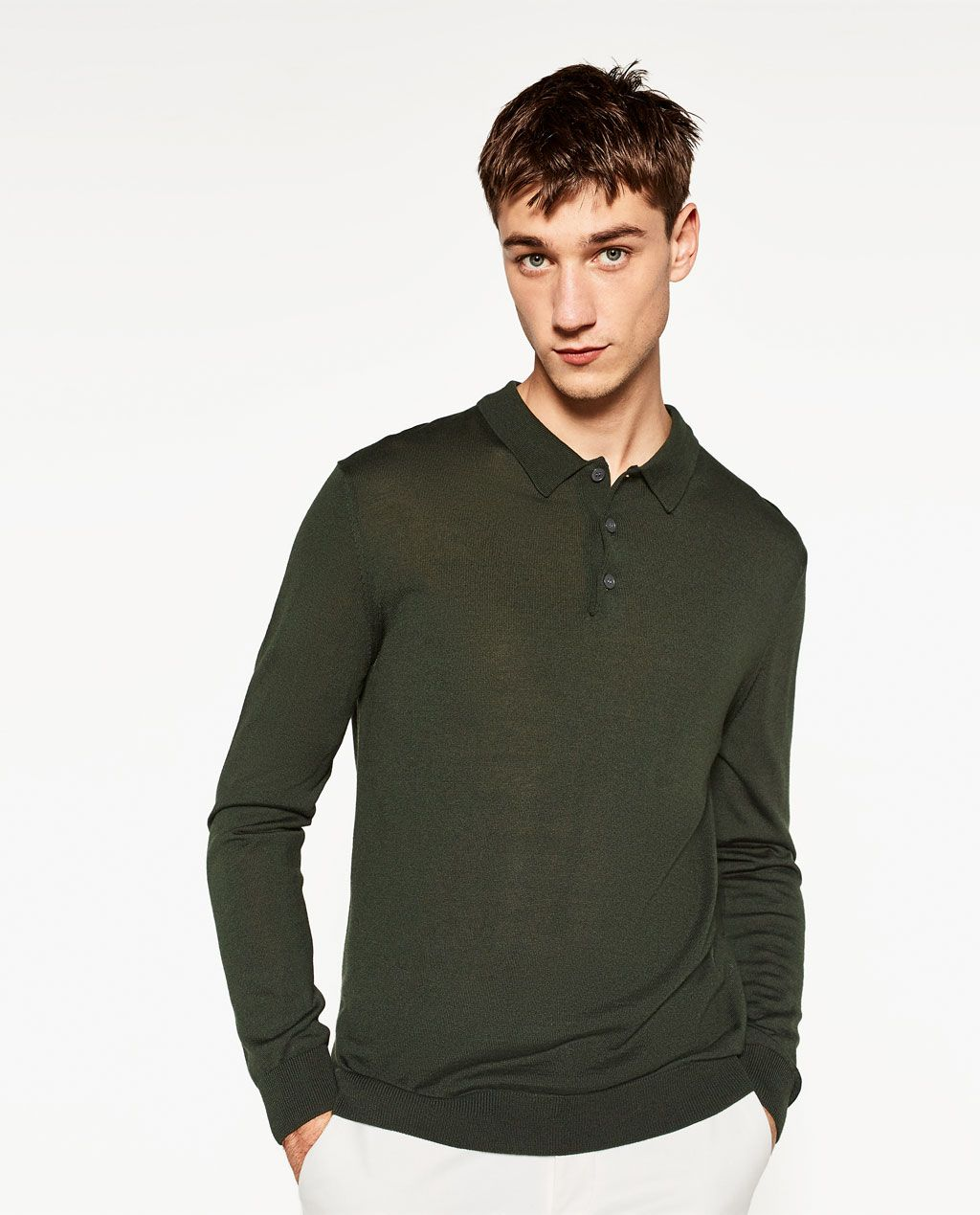 e838ccfb4 Image 2 of LONG SLEEVE POLO SHIRT from Zara Long Sleeve Polo, Zara Man,