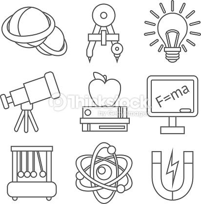 Image Result For Physics Icons Coloring Pages Science Tools Science Equipment