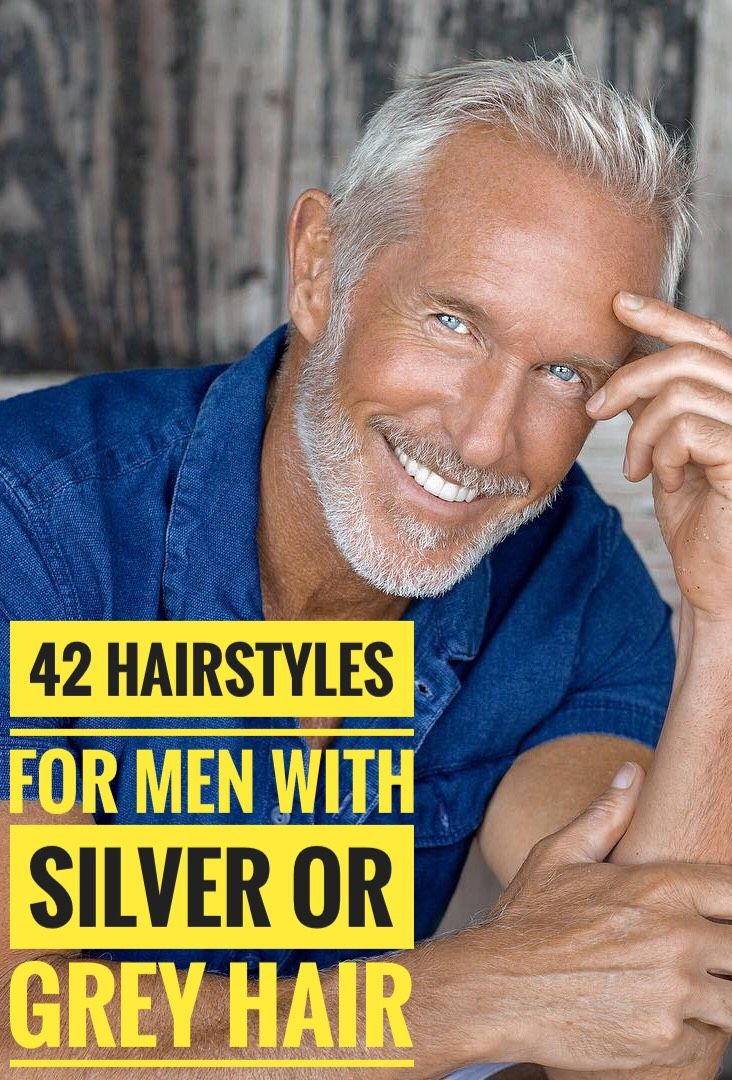 42 Hairstyles for Men with Silver and Grey Hair #hairandbeardstyles