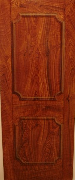 A Walnut Wood Grain Trompe L'oeil Door