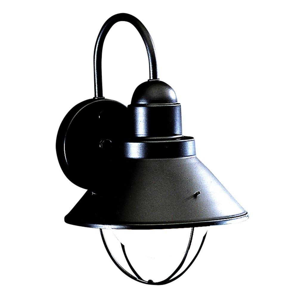 Kichler outdoor wall light in black finish outdoor walls lights kichler outdoor wall light in black finish at destination lighting aloadofball Choice Image