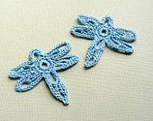 Libélula Crochet Butterfly Appliques