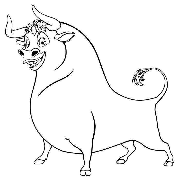 Раскраска Быки, бычки и коровки на Новый год 2021 в 2020 г ...