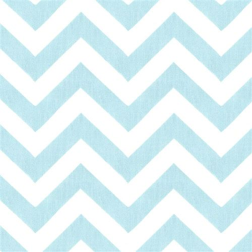 Choose Your Size Table Runner Chevron White And Baby Blue