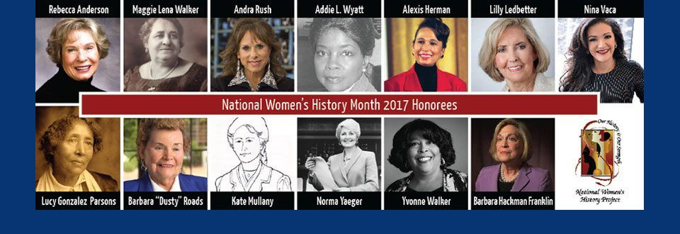 2017 Honorees → National women's history month, Women in