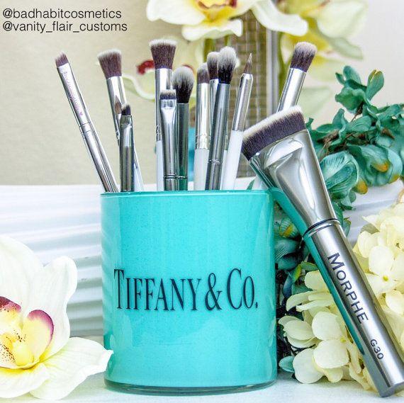 Tiffany & Co. Inspired makeup brush holder