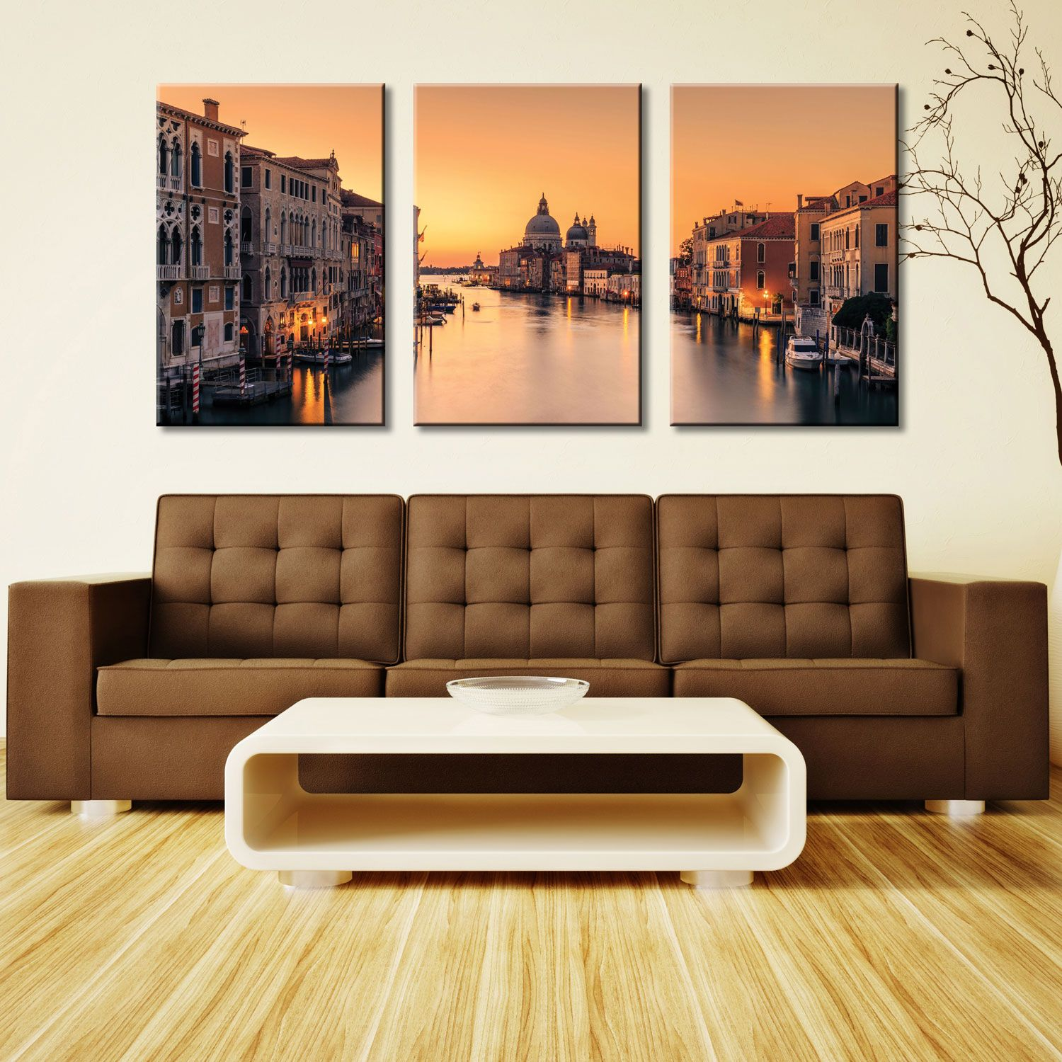 Wall Prints For Living Room Australia Dawn On Venice 3 Piece Art Set 3 Panel Wall Art Canvas 3 Piece