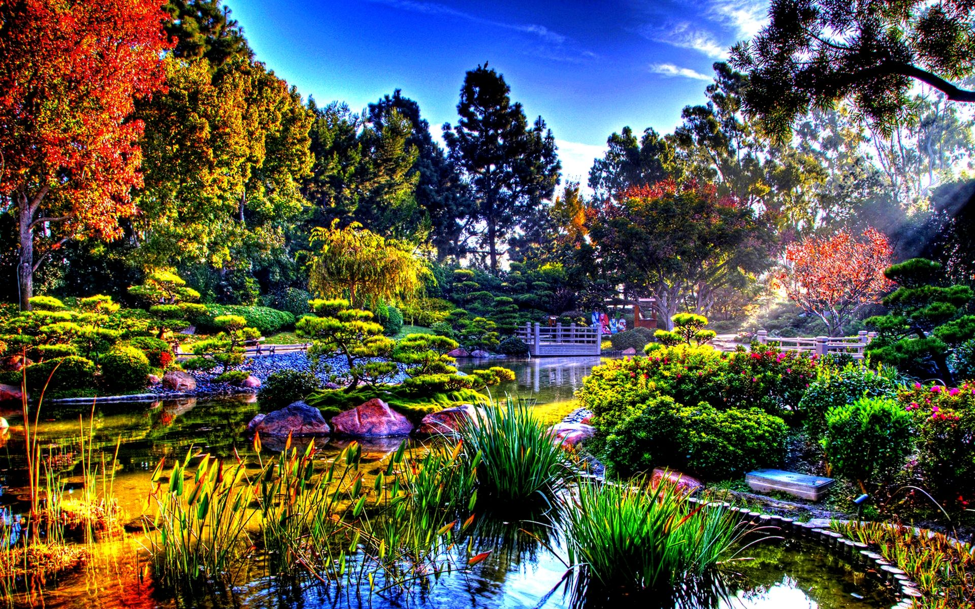 Spring japanese garden wallpaper design awesome 36205 for Beautiful gardens landscaping