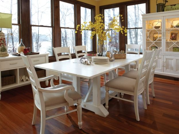 Tips For Stunning White Kitchen Table With Bench Design White Dining Room Table White Kitchen Table White Dining Table