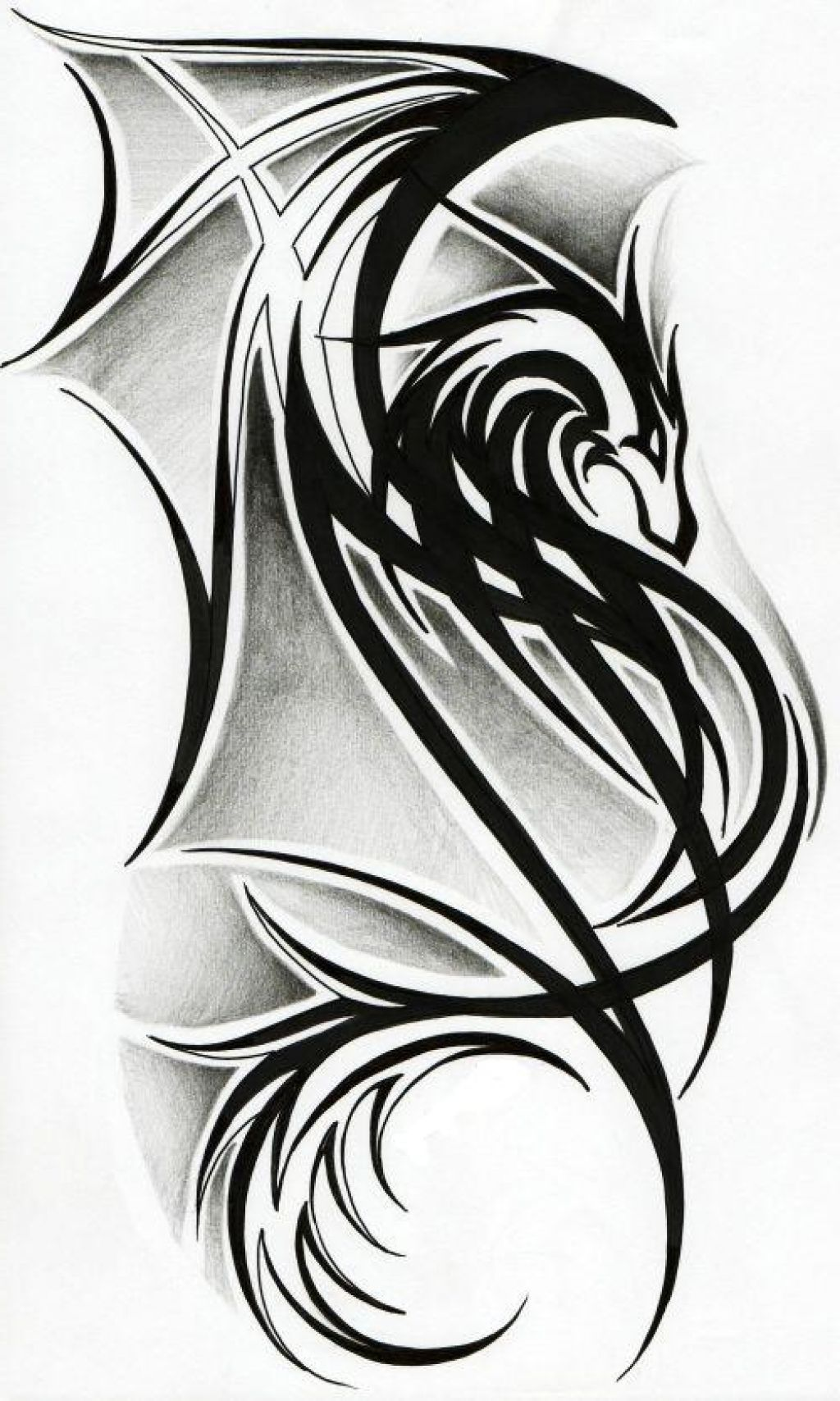 Tattoo design picture - Tribal Dragon Tattoo Designs Best Tattoo Art Design