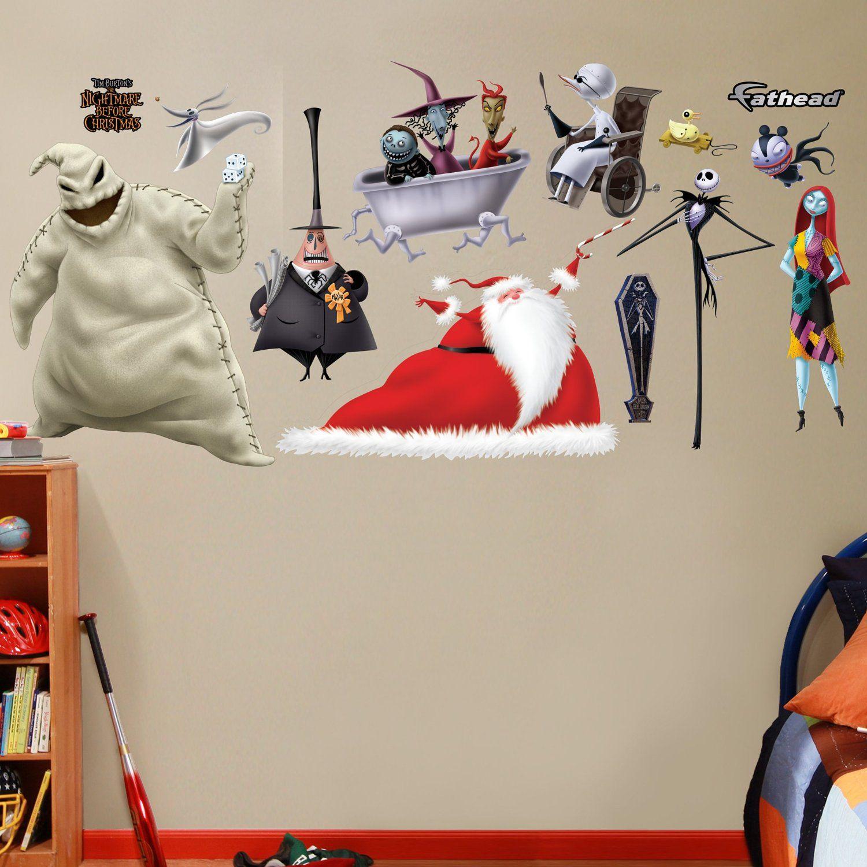 Disney Nightmare Before Christmas Wall Decal Jack and Sally ...