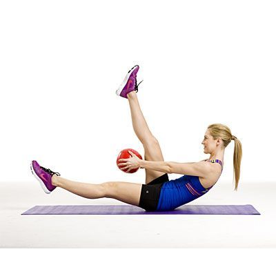 #fitness  #exercise | Health.com #your #with  Feel your abs with this Scissor and thread move.