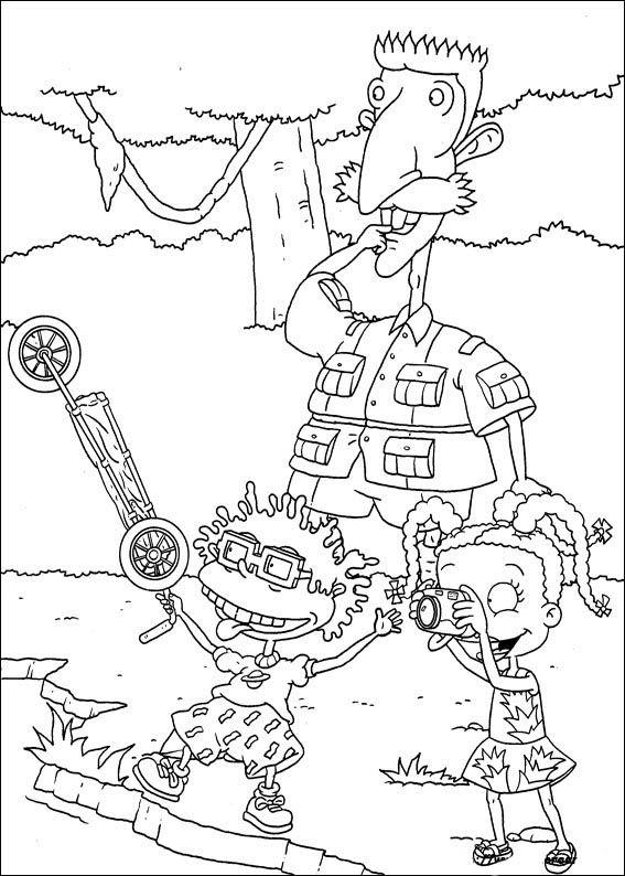 Dibujos para Colorear. Dibujos para Pintar. Dibujos para imprimir y colorear online. Rugrats 76