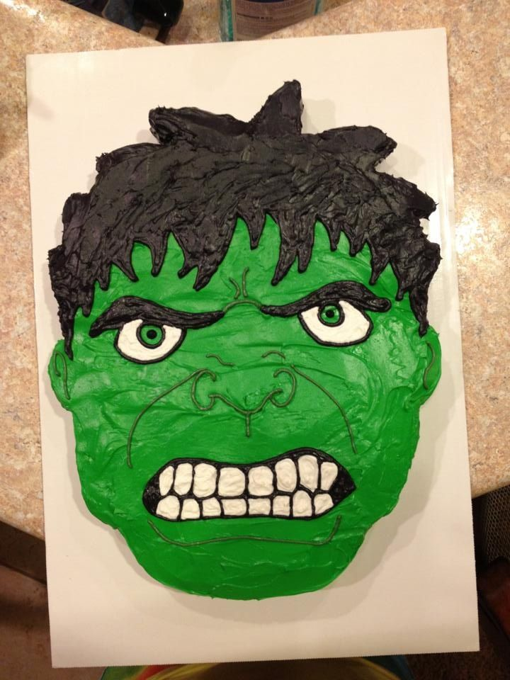 The Cake My Sister Made For Drakes Party Hulk Birthday