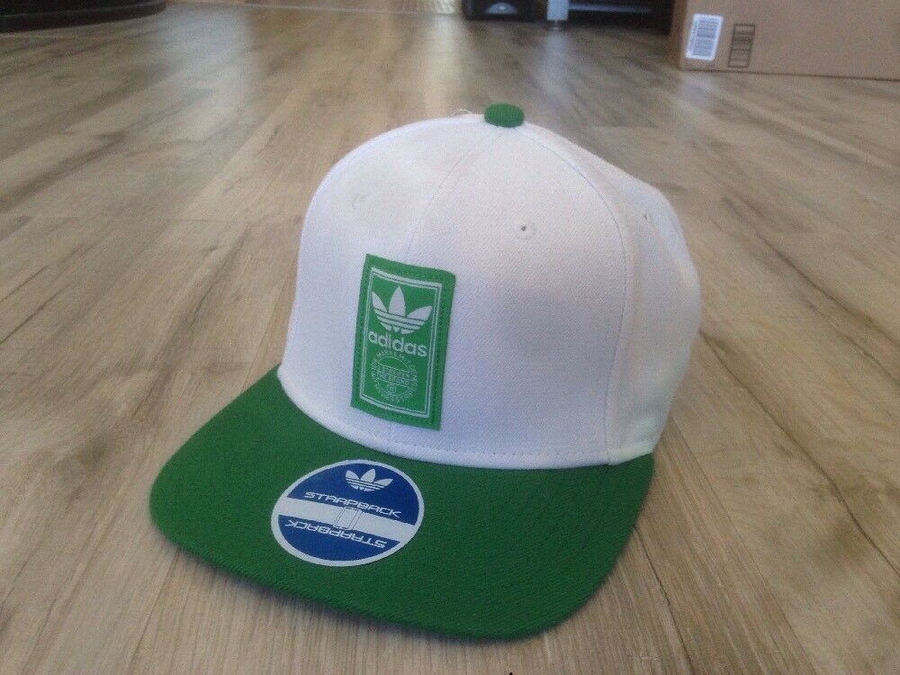Adidas Leather Strapback Hat Green White Flat Bill - Preowned  fashion   clothing  shoes  accessories  mensaccessories  hats (ebay link) ac957ebe2940