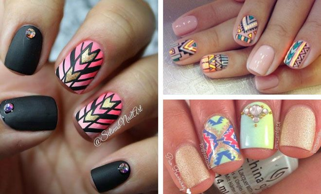 19 Tribal Inspired Nail Art Designs Nails Express Yourself