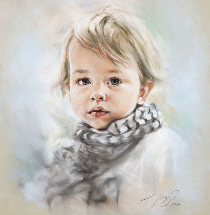 Bogra retratos de ni os pinturas al leo cuadros por - Retratos de ninos al oleo ...