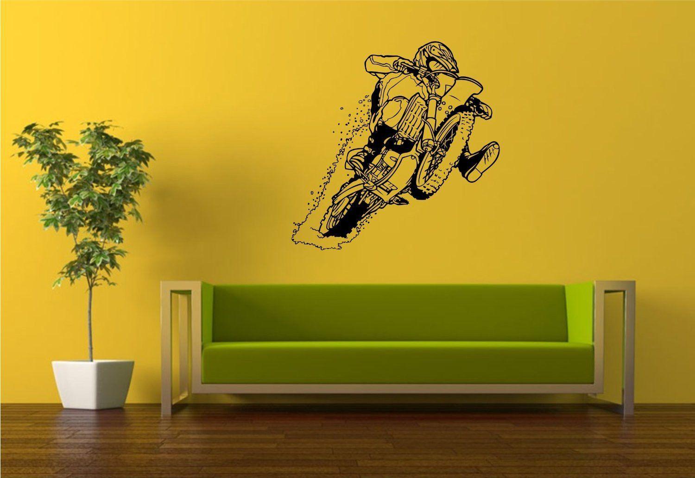 Dirtbike Rider Version 113 Wall Decal Sticker Mx X Games Trick ...
