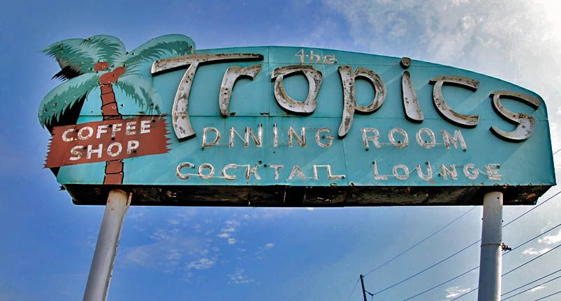 The Tropics Tail Lounge Lincoln Il Http Www Route66guide Route66 Restaurants Html
