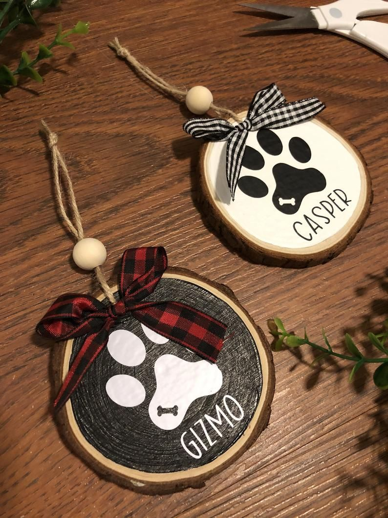 Personalized Pet Ornament Pet Lovers Ornament Wooden Etsy In 2020