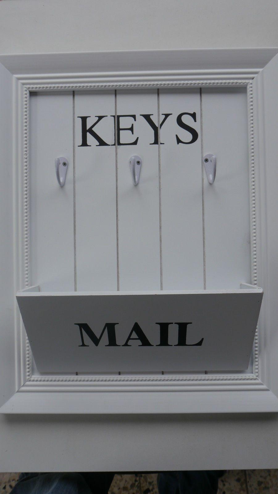 Schlüsselbrett mit Brief-Halter - Keys & Mail - Shabby - NEU FOR ...