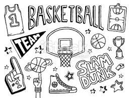 Basketball Doodle Google Search Basketball Doodle Doodle Pages Basket Drawing