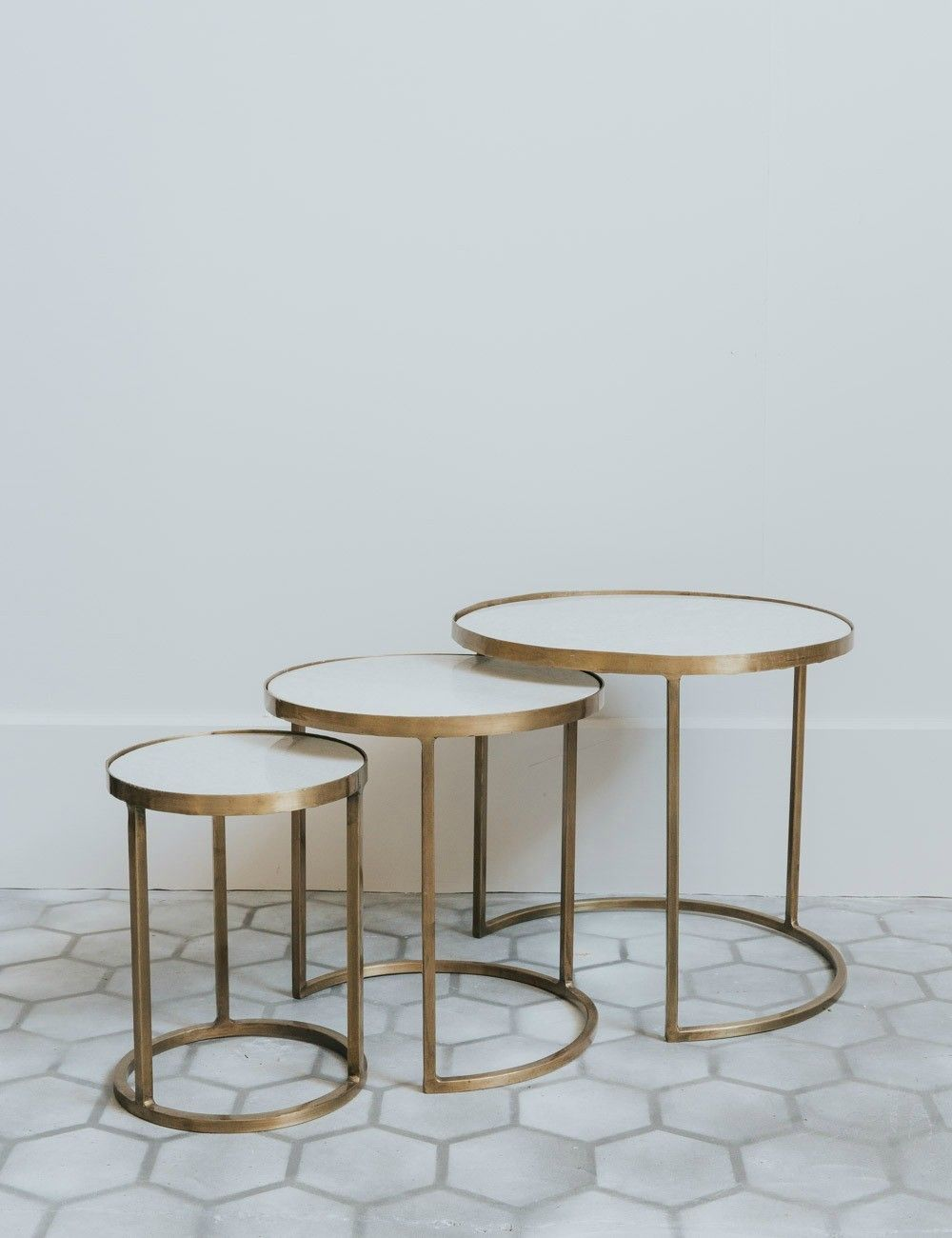 Bebe white marble brass nesting coffee tables white marble bebe white marble brass nesting coffee tables watchthetrailerfo