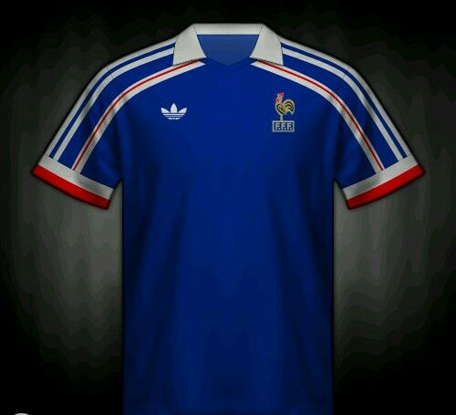 France home shirt for the 1986 World Cup Finals. | Maillot