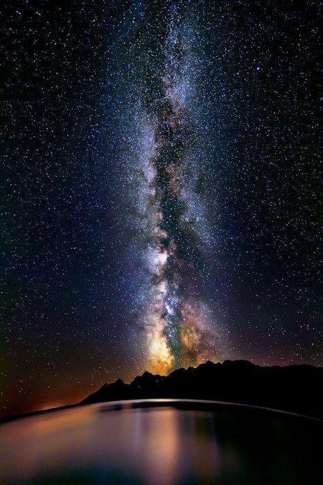 Resultado de imagen de La mas bella imagen de la Vía Lactea vista desde la Tierra