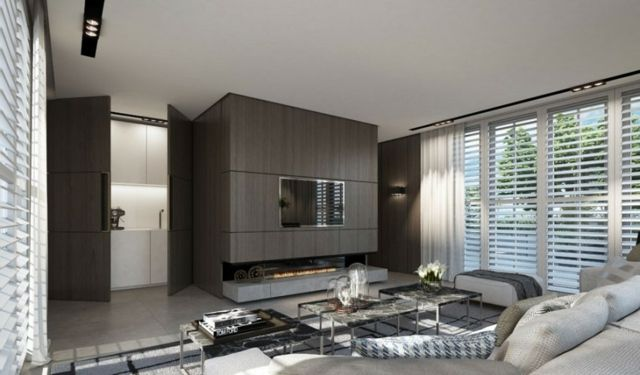Holzwand Neutrale Farbe Wohnzimmer Wohnideen