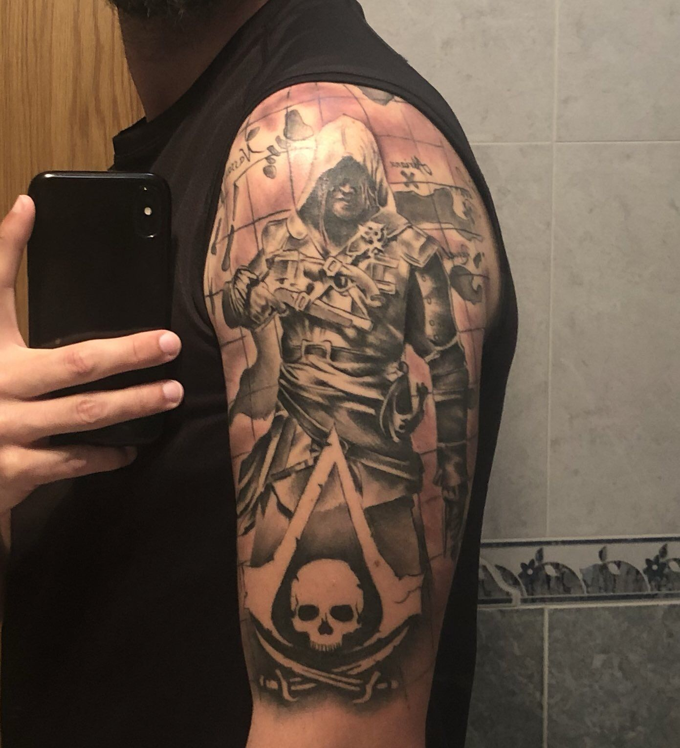 Assassins Creed Black Flag Tattoo By Elartedelbuho Assassins Creed Black Flag Black Flag Tattoo Assassin S Creed Black