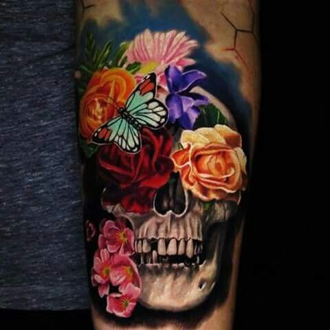 Whats The Symbolism Behind The Flower Skull Tattoo Ive Seen Some