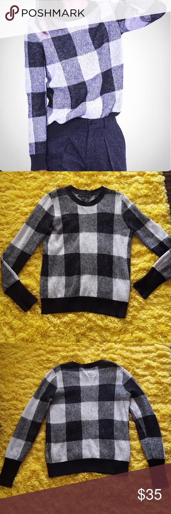 Banana Republic Plaid Sweater | Plaid sweater, Sweaters