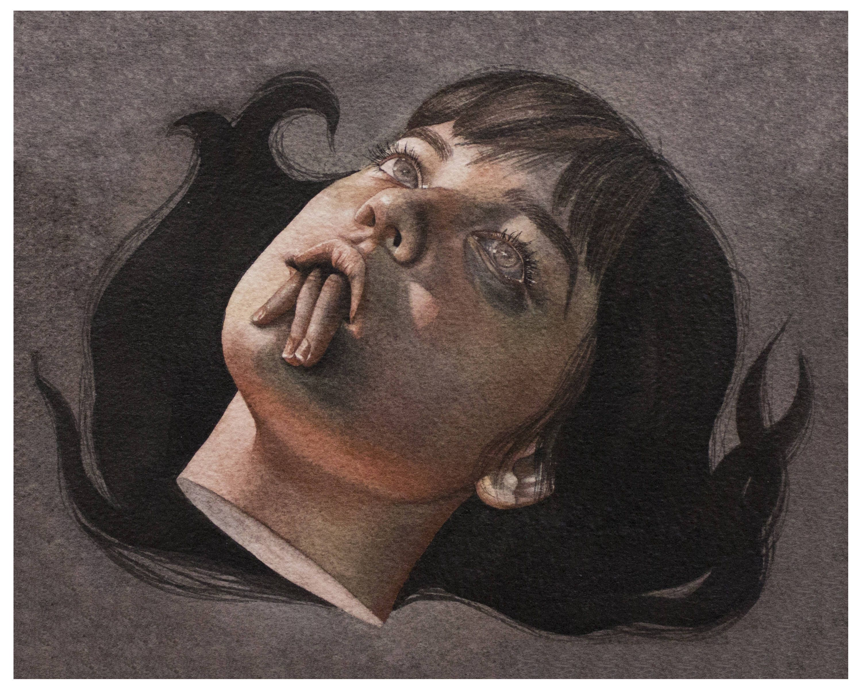 Asphyxiate Print By Velvetmush On Etsy Https Www Etsy Com Listing 560708549 Asphyxiate Print Surealism Art Bizarre Art Surreal Art