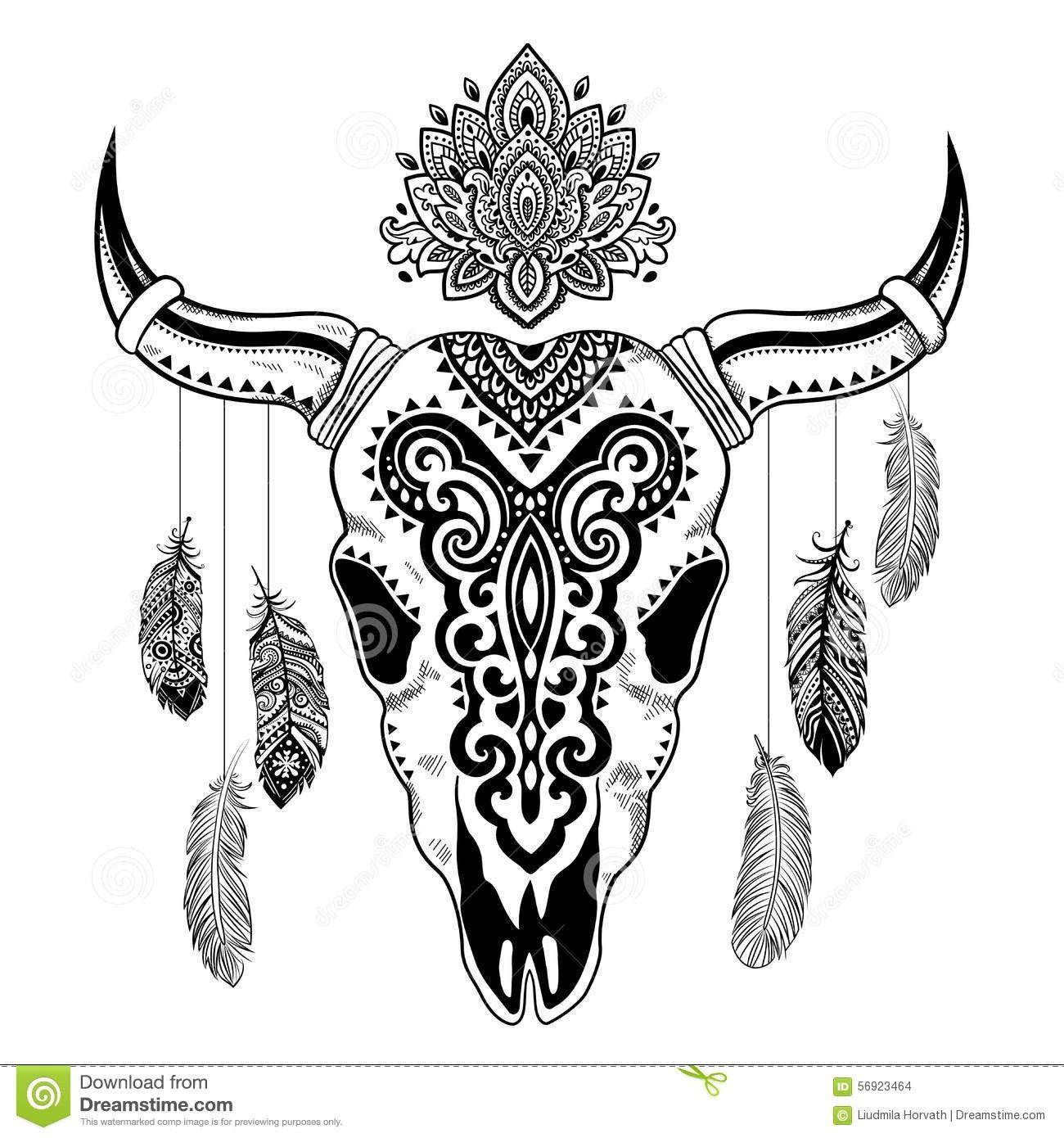 Crane De Buffle Dessin Maisonreve Club Avec Illustration Animale Tribale De Crne Avec Et Dessin Crane Illustration Tete De Mort Dessins De Fleurs Pour Tatouage