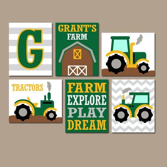 Farmer Wall Art, Baby Boy Farm Nursery Decor, Farmer Boy Bedroom Pictures, Farm Big Boy Room Decor Farm Barn Quote CANVAS or Prints Set of 6 is part of Big bedroom Pictures - 204991604 The purchase of any item from TRM Design does not transfer rights to sell, copy, or distribute in any way  www trmdesign store Wall Art, Nursery Wall Art, Canvas, Canvas Wall Art, Nursery Prints, Nursery Canvas, Kids Room Decor, Children Room Decor, Playroom Wall Art, Baby Nursery Prints, Baby Nursery Decor, Kids Prints, Baby Girl, Baby Boy, Home Decor, Custom Artwork, Typography, Quote Prints, Office Wall Art, Kids Art, Kids Wall Art, Personalized Baby Gifts, Custom Home Decor, Kitchen Wall Art, Kitchen Canvas, Posters, Bathroom Decor, Bathroom Wall Art, Bathroom Canvas, Bedroom Decor, Bedroom Wall Art, Bedroom Canvas, Bathroom Canvas