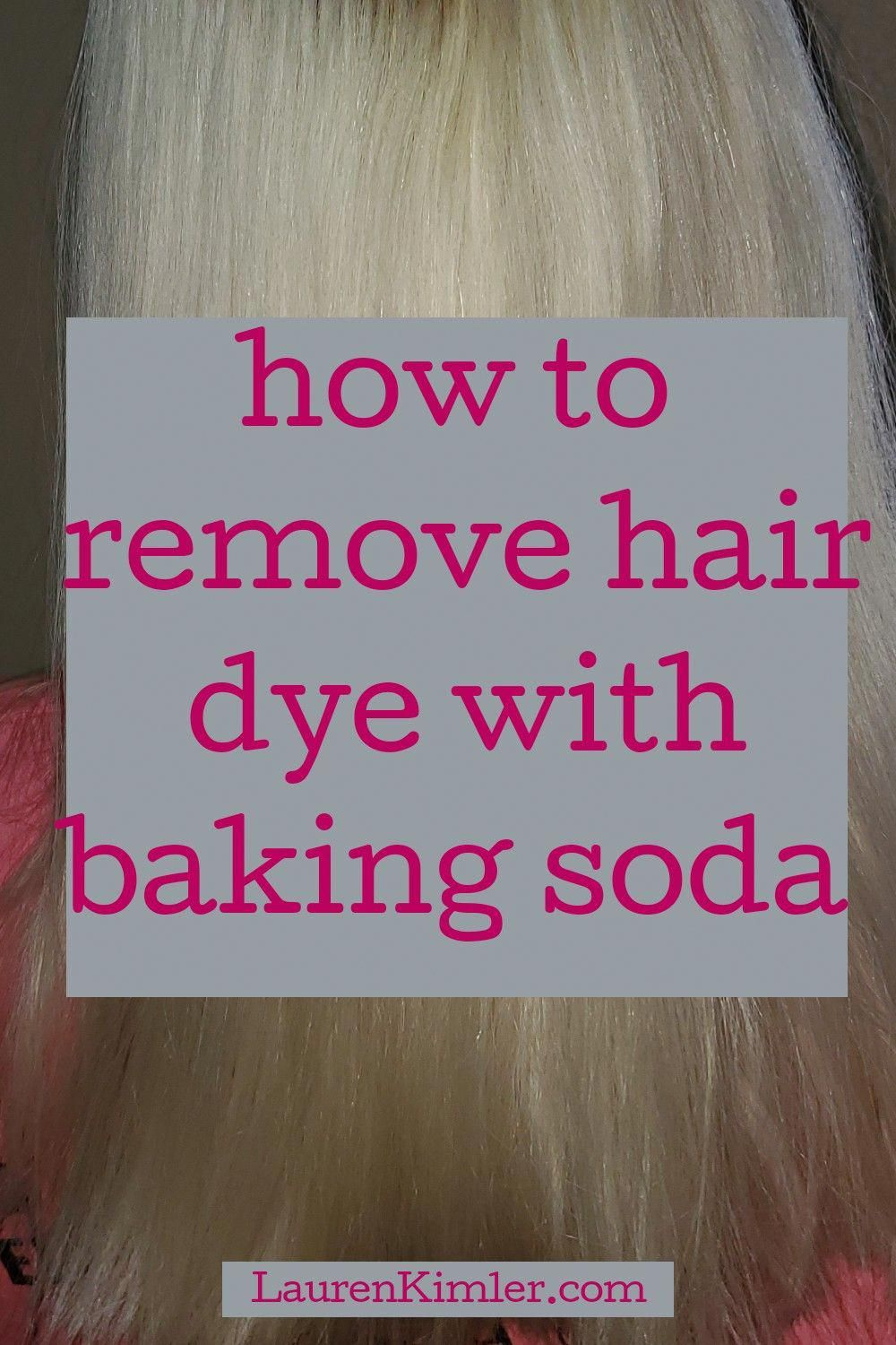 How To Remove Hair Color With Baking Soda Hair Color Remover Hair Dye Removal Baking Soda For Hair