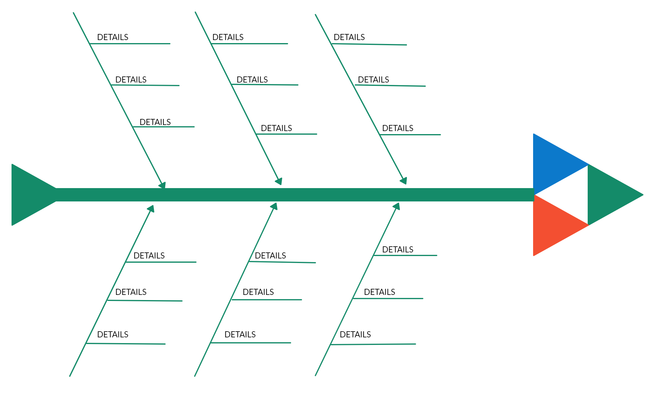 Fishbone Diagram Template For Sales Fish Bone Diagram Templates