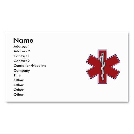 medical profile card business card template nurse business cards