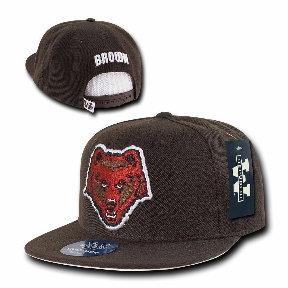 272f633a Brown University Bears BU NCAA Flat Bill Snapback Baseball Ball Cap ...