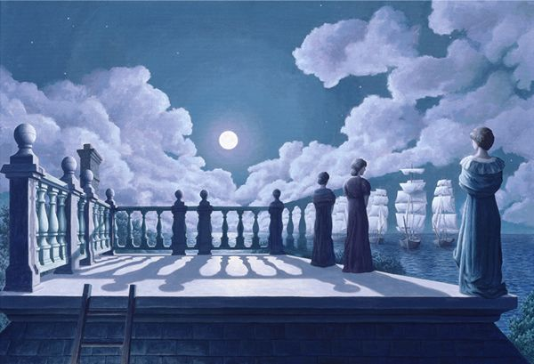 Amazing Optical Illusions By Rob Gonsalves Illusion Art Optical