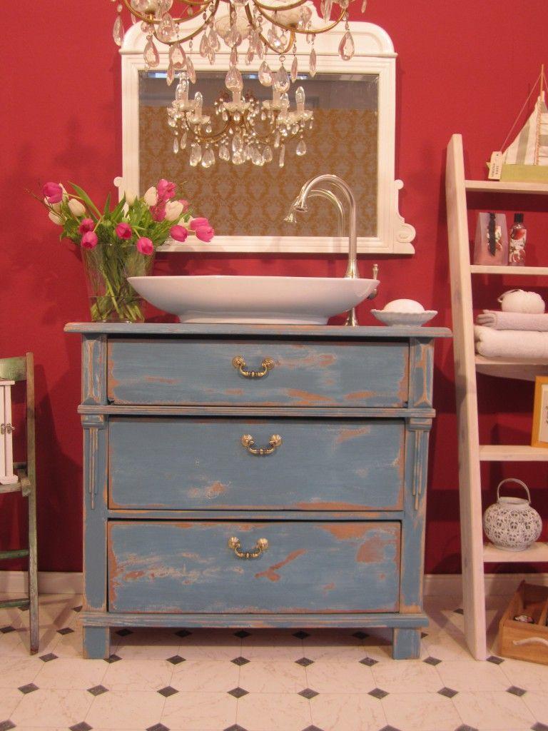 Waschtisch Kommode Landhaus Shabby Chic Blue Moon 2 Shabby Chic Zimmer Shabby Chic Badezimmer Shabby Chic Dekor