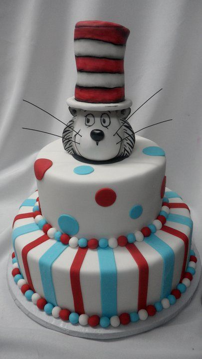 Cat In The Hat Cake By Eric Patty Woller Cute Seuss Cakes